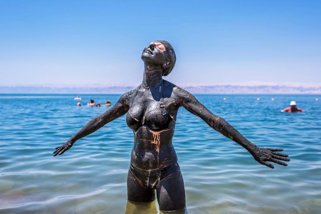 Lekker aanmodderen @ Dead Sea
