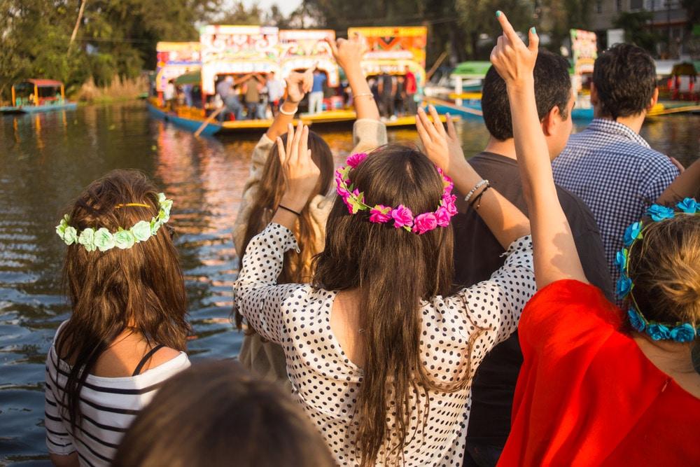 Lustrumreis Mexico - Floating gardens van Xochimilmco