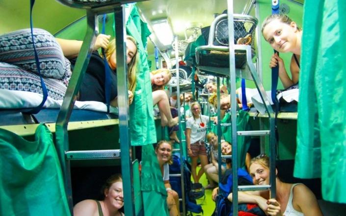 Lustrumreis naar Thailand - Night train to Chang Mai